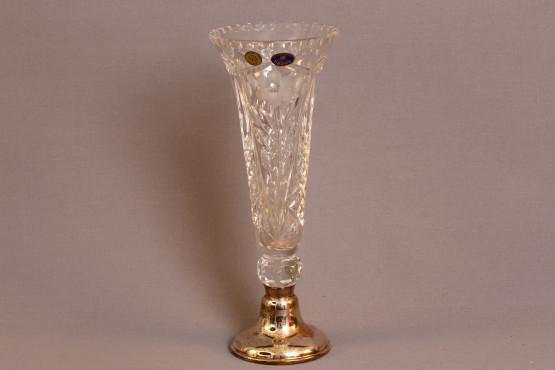 hopeajalallinen kristallimaljakko