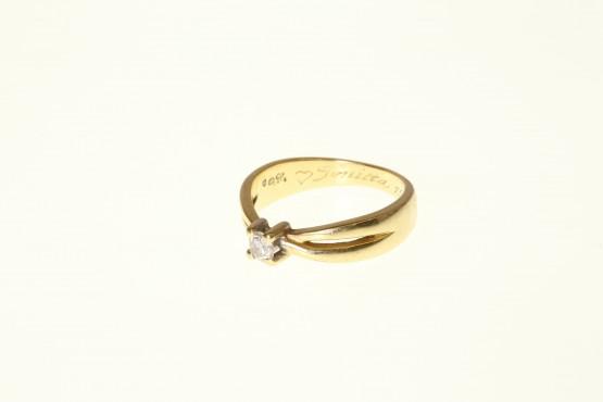 timanttisormus Kultajousi 0.20ct