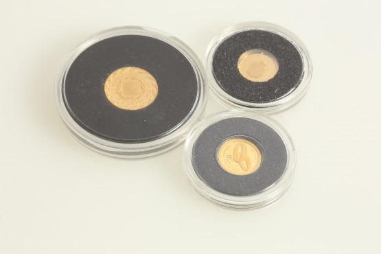 3 kultarahaa 999 2,03gr