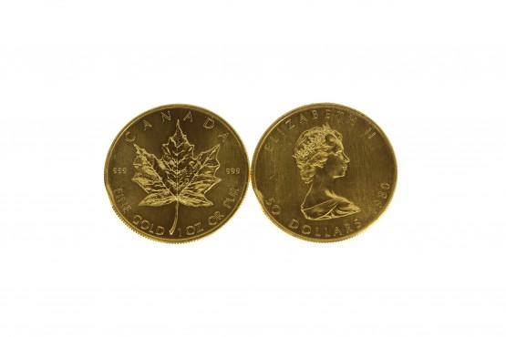 2 kpl 1oz kultarahoja